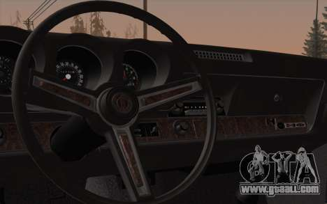 Oldsmobile Hurst/Olds 455 Holiday Coupe 1969 for GTA San Andreas inner view