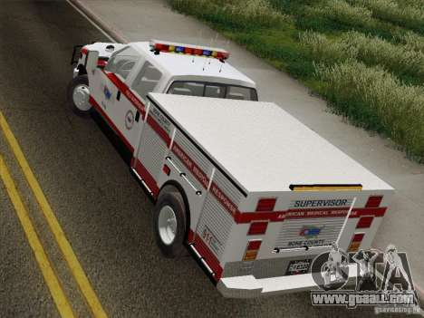 Ford F-350 AMR Supervisor for GTA San Andreas back view