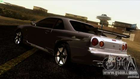 Nissan Skyline R34 Drift for GTA San Andreas back left view