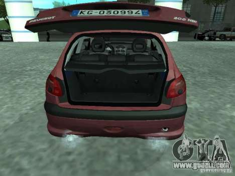 Peugeot 206 HDi 2003 for GTA San Andreas back view