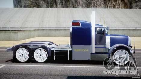 Peterbilt Truck Custom for GTA 4 left view