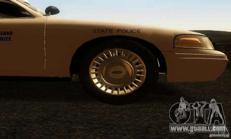 Ford Crown Victoria Rhode Island Police for GTA San Andreas right view