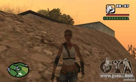 The new military girl for GTA San Andreas second screenshot