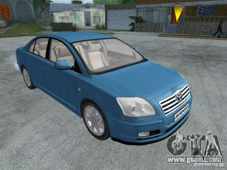 Toyota Avensis V2.0 for GTA San Andreas right view