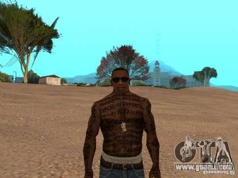 Tattoo Mod by shama123 for GTA San Andreas third screenshot