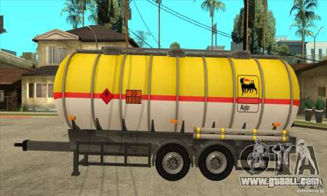 Trailer Tunk for GTA San Andreas left view