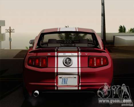 Ford Shelby GT500 Super Snake 2011 for GTA San Andreas right view