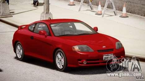 Hyundai Tiburon tunable for GTA 4 back view