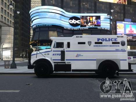 Enforcer Emergency Service NYPD for GTA 4 back view