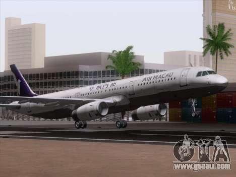 Airbus A321 Air Macau for GTA San Andreas left view