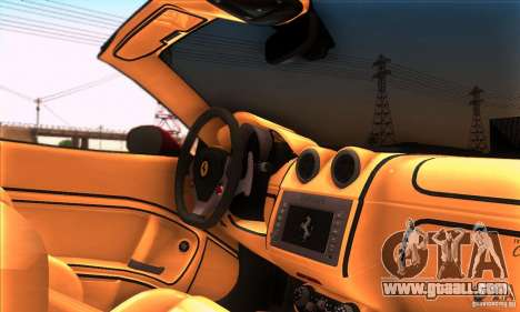 Ferrari California V3 for GTA San Andreas upper view