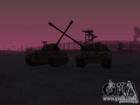 Pzkpfw VII Tiger II for GTA San Andreas back view