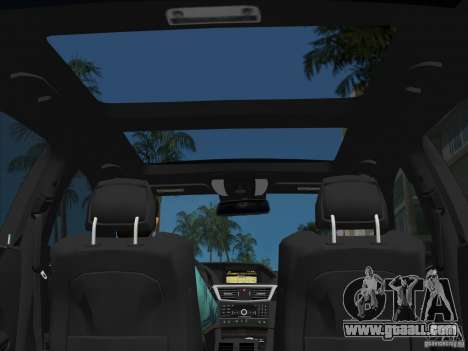 Mercedes-Benz E63 AMG for GTA Vice City interior