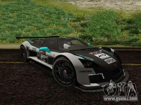 Gumpert Apollo S 2012 for GTA San Andreas inner view