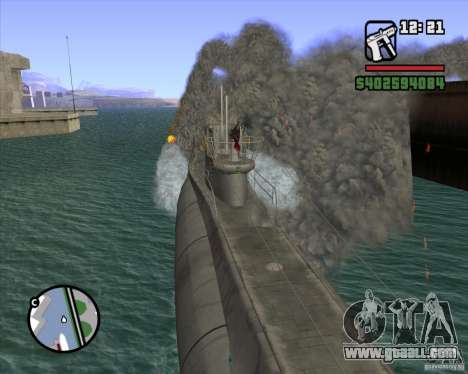 U99 German Submarine for GTA San Andreas sixth screenshot