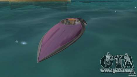 Bugatti Sang Bleu Speedboat for GTA Vice City left view