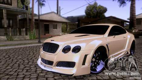 Bentley Continental GT Premier 2008 V2.0 for GTA San Andreas upper view