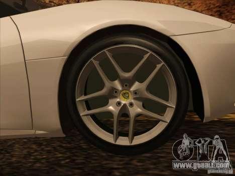 Lotus Evora for GTA San Andreas inner view