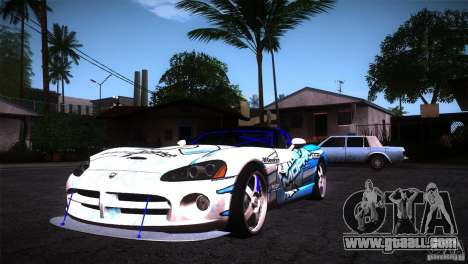 Dodge Viper Mopar Drift for GTA San Andreas