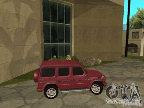 Mercedes-Benz G500 1999 Member for GTA San Andreas back left view