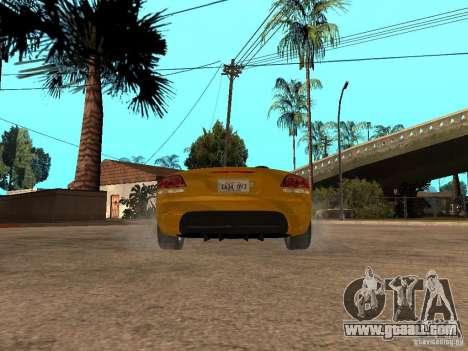 Dodge Viper SRT10 Impostor Tuning for GTA San Andreas back left view