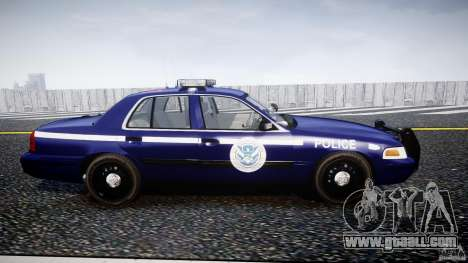 Ford Crown Victoria Homeland Security [ELS] for GTA 4 inner view