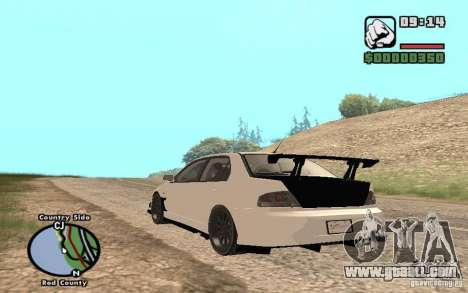 Mitsubishi Lancer Evolution 8 Carbon for GTA San Andreas right view