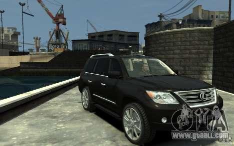 Lexus LX 570 v1.0 for GTA 4 back view