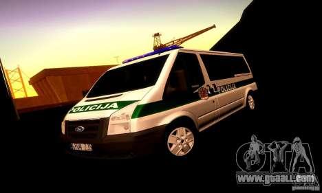 Ford Transit Policija for GTA San Andreas upper view