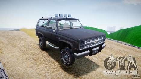 Chevrolet Blazer K5 Stock for GTA 4 bottom view