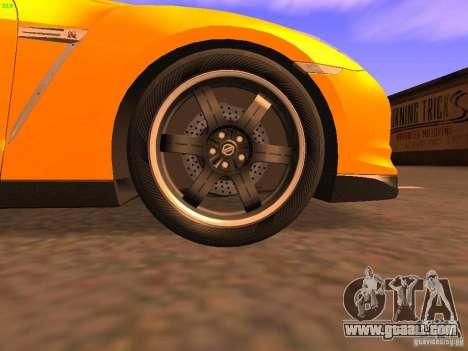 Nissan GT-R SpecV Black Revel for GTA San Andreas upper view
