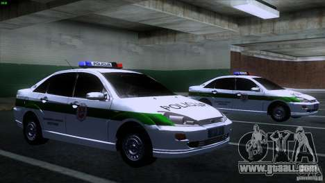 Ford Focus Policija for GTA San Andreas right view