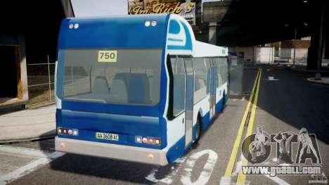 DAF Berkhof City Bus Amsterdam for GTA 4 back left view