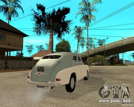 GAZ M20 Pobeda for GTA San Andreas back left view