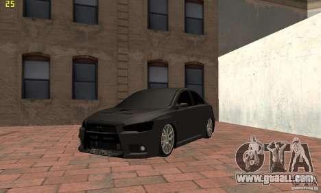 Mitsubishi Lancer Evolution Dag Style for GTA San Andreas