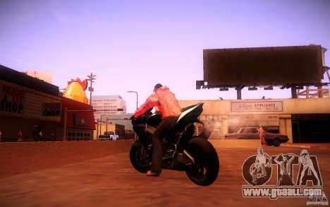 Aprilia RSV-4 Black Edition for GTA San Andreas back left view