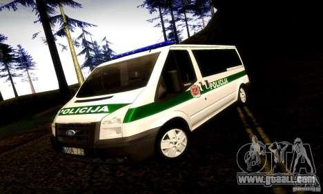 Ford Transit Policija for GTA San Andreas