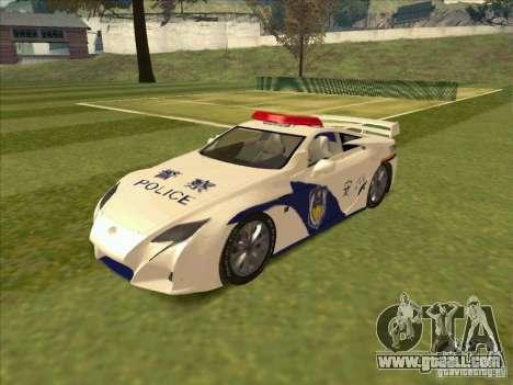 Lexus LF-A China Police for GTA San Andreas
