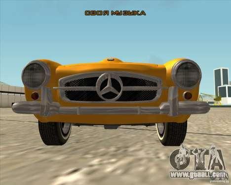Mercedes Benz 190SL 1960 for GTA San Andreas upper view