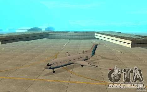 Yak-42 d Scat (Kazakhstan) for GTA San Andreas left view