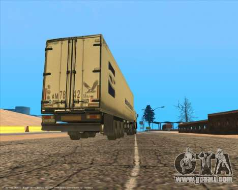 Semi-trailer for GTA San Andreas right view