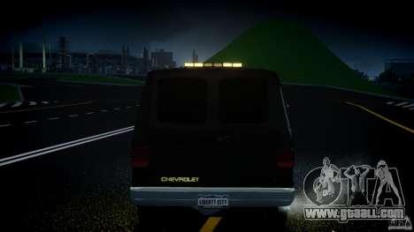 Chevrolet G20 Police Van [ELS] for GTA 4 interior