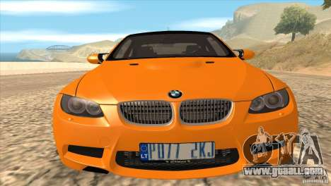 BMW M3 E92 for GTA San Andreas interior