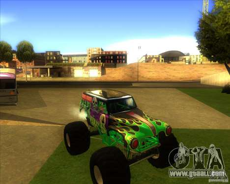 Grave Digger for GTA San Andreas left view
