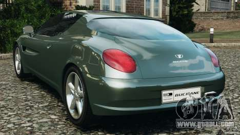 Daewoo Bucrane Concept 1995 for GTA 4 back left view
