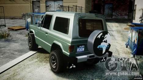 Mitsubishi Pajero I [Final] for GTA 4 inner view