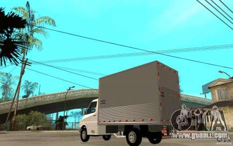 Mercedes-Benz Sprinter Truck for GTA San Andreas back left view