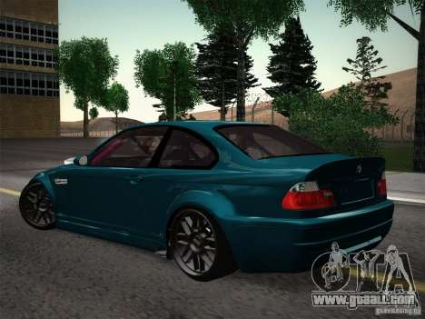 BMW E46 Drift II for GTA San Andreas back view