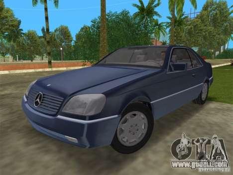 Mercedes-Benz 600SEC (C140) 1992 for GTA Vice City back view