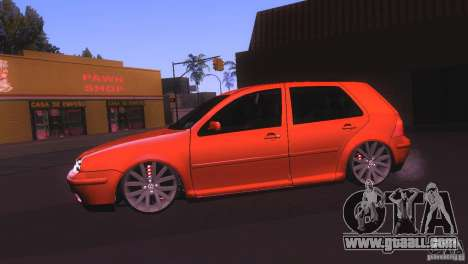 Volkswagen Golf IV for GTA San Andreas back left view